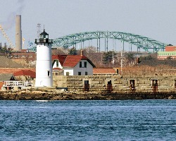 Harbor Light In Portsmouth New Hampshire