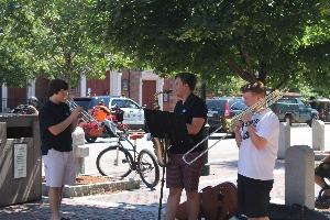 Street Musicians In Portsmouth New Hampshire
