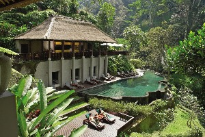 Pool and Exterior of the Maya Ubud Resort and Spa